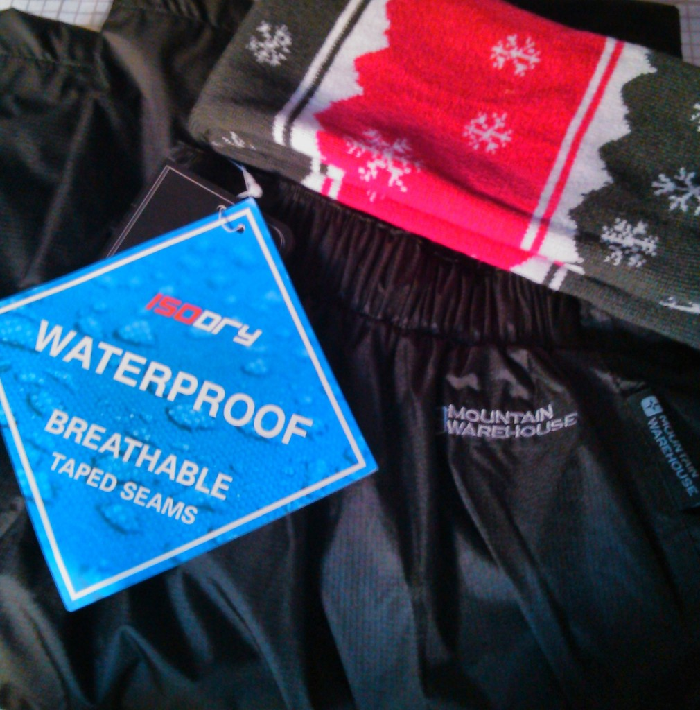 Waterproof trousers for Christmas - Thanks Mr F!